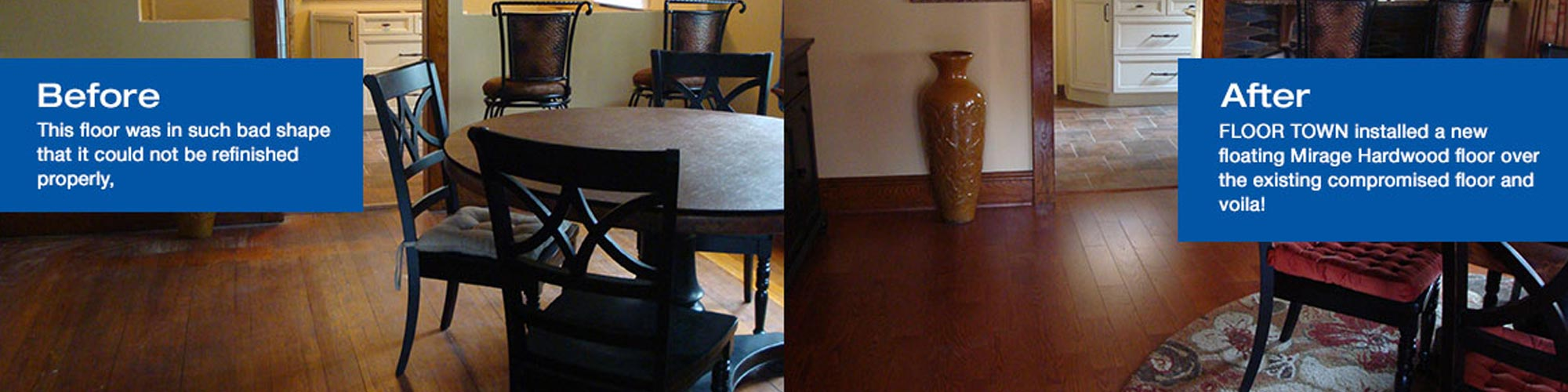 Floor Town Hardwood Before and After