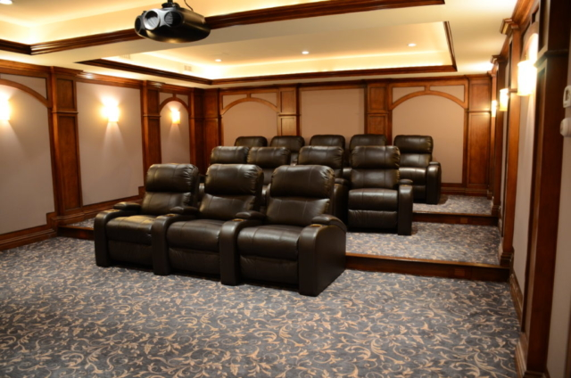entertainment-room-re-carpeted-following-flood