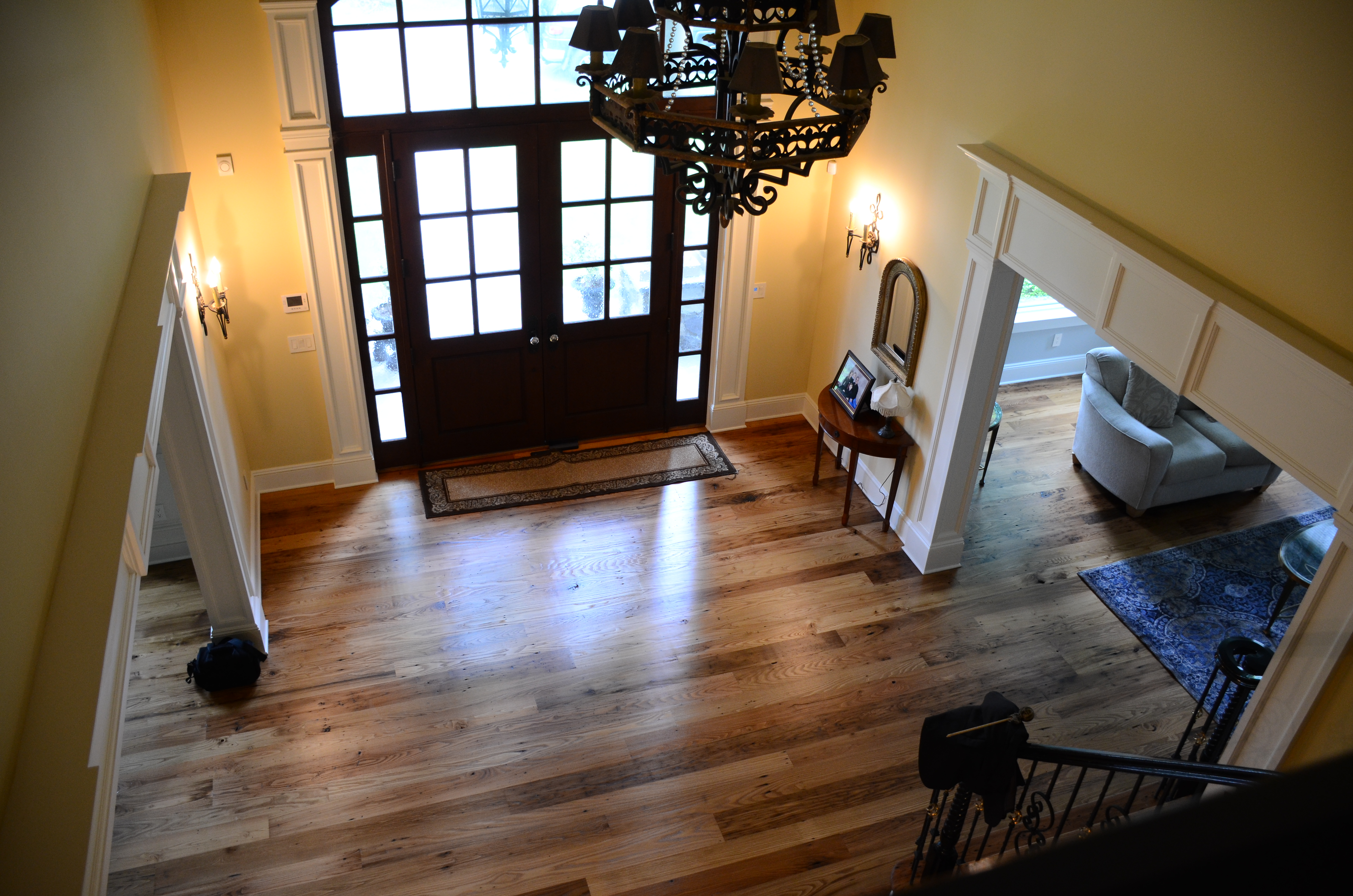 entry-way-following-installation-of-hand-milled-hardwood-flooring_