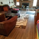 Hillsdale - Newly installed Luxury Vinyl in Family Room